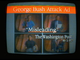 Screen Shot: Presidential Candidate Bill Clinton's TV Ad Attacking President Bush's Attack Ad Premium Photographic Print by Ted Thai