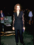 Actress Mimi Rogers Wearing $1,275 Dolce and Gabbana Linen Suit to MTV Awards Premium Photographic Print by Kevin Winter