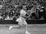 Helen Jacobs Running for the Tennis Ball During a Match at the Women's Singles Final Premium Photographic Print by John Phillips