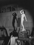 """Shirley O'Hara in Bathing Suit During Filming as the """"Shadow Girl"""" in RKO's """"The Ghost Ship"""" Premium Photographic Print by John Florea"""