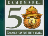 Poster of Smokey the Bear with Caption Reading Remember - 50 - Smokey Has for Fifty Years Premium Photographic Print