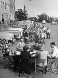 University of California at Los Angeles Paraplegics Registering for Classes Premium Photographic Print by John Florea