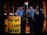 "NYC Policemen with ""Salvage"" Drums for Transport of Bomb-Making Material Premium Photographic Print by Ted Thai"
