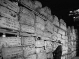 Crude Rubber Stacked Three Stories High in Warehouse, U.S. Strategic Materials Stockpile Premium Photographic Print by Ed Clark