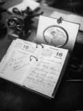 Movie Director Cecil B. Demille's Desk Calendar Outlining Appointments Premium Photographic Print by John Florea