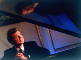 Pianist Van Cliburn Sitting at Steinway Piano at Plaza Hotel Premium Photographic Print by Ted Thai