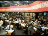 CNN Newsroomm Bustling with Staffers at Cable News Network Headquarters in Atlanta, Georgia Premium Photographic Print by Ted Thai