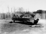 Truck Load of Bodies of Prisoners of Nazis in Buchenwald Concentration Camp Premium Photographic Print by W. Chichersky