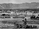 Camp at Fort Bliss, Picket Lines and Battery Parks, During US's Mexican Punitive Expedition Premium Photographic Print by C. Tucker Beckett