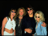 Jon Bon Jovi, Richie Sambora and Heather Locklear at Opening of Rock and Roll Hall of Fame Premium Photographic Print by Dave Allocca