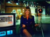 "Laurin Sydney Hosting CNN TV Entertainment News Show ""Showbiz Today,"" on Studio Set in NYC Premium Photographic Print by Ted Thai"