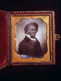 Framed Daguerreotype Portrait of Orator/Abolitionist Frederick Douglass Premium Photographic Print by J. R. Eyerman