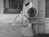 The Duke of Windsor Has No License Plate, Only a Royal Crown Emblem Premium Photographic Print by David Scherman