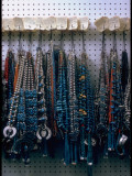 Turquoise Necklaces Made by Native Americans Lining Walls of Store Premium Photographic Print by Michael Mauney