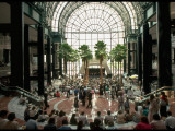 Concert Inside Winter Garden, under Giant Palms, Battery Park City Premium Photographic Print by Ted Thai