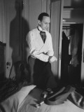 Getting Dressed for the National Association Merchant Tailors of America Convention Premium Photographic Print by Peter Stackpole