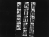 Contact Sheet with Pictures of Argentinian Author Julio Cortazar Premium Photographic Print by Pierre Boulat