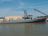 Patrol Craft Monsoon Standing Moored to Pier While Undergoing Construction at Shipyards Premium Photographic Print by John Bouvia