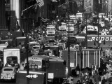 Typical Crowded Urban Scene in Midtown Manhattan Looking North on 5th Ave from 31st Street Premium Photographic Print by Andreas Feininger