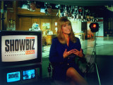 "Laurin Sydney Hosting CNN TV Entertainment News Show ""Showbiz Today,"" on Studio Set Premium Photographic Print by Ted Thai"