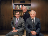 Portrait of Time Warner Executives - Nicholas Nicholas Jr., Steven Ross, and Richard Munro Premium Photographic Print by Ted Thai