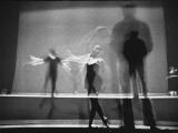 Multiple Image of Ballet Master George Balanchine Watching NYC Ballet Dancers Rehearse Premium-Fotodruck von Gjon Mili
