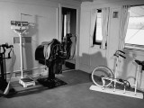 """A View Showing the Exercise Room on President Rafael L. Trujillo's Yacht """"Ramfis"""" Premium Photographic Print by Thomas D. Mcavoy"""