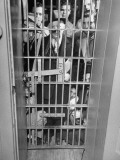 Bachelors Filling the Women's Jail after the Men's Got Too Crowded Premium Photographic Print by George Skadding