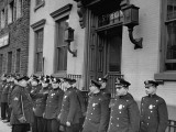 NYPD Policemen of the 25th Precinct Preparing to Go Out on Patrol Premium Photographic Print by Carl Mydans