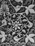 Stylized Vegetation Motif in a Stucco Panel in the Alhambra Premium Photographic Print by David Lees