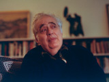Author Harold Bloom at Home in His Apartment Premium Photographic Print by Ted Thai