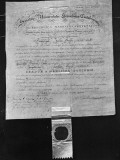 Old Harvard Diploma from 1821 Premium Photographic Print by Arthur Griffin