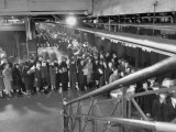 Crowds Lining Up for Seats at Penn. Station Premium Photographic Print by Ralph Morse