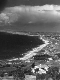 Aerial of Santa Monica Bay Premium Photographic Print by Horace Bristol