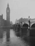 Big Ben Looming Above Westminster Bridge over the Thames Premium Photographic Print by Carl Mydans