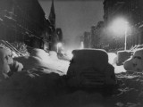 Record Snowfall on West 22nd Street Premium Photographic Print by Andreas Feininger