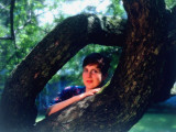 Lyric Soprano Dawn Upshaw Resting Against Tree Limbs Premium Photographic Print by Ted Thai