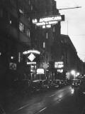 Busy Santiago Street at Night Premium Photographic Print by Hart Preston