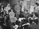 Joint Navy and Civilian Recreations Council in Session Premium Photographic Print by J. R. Eyerman