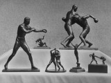 Cecil Howard's Sculpted Figurenes of Sport Characters Premium Photographic Print by Andreas Feininger