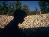 Robert F. Kennedy Speaking in Greek Amphitheater Metal Print by Bill Eppridge