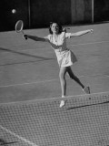 Marcia Van Dyke Playing Tennis Premium Photographic Print by John Florea