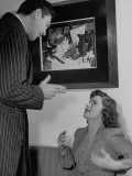 Marcia Van Dyke Acting in a Screen Test with Asher Hayes Premium Photographic Print by John Florea