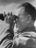 Jean Manzon Looking Through a Pair of Binoculars Premium Photographic Print by Hart Preston