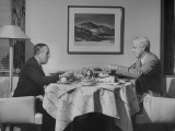Paul G. Hoffman Having Lunch with William L. Clayton Premium Photographic Print by Thomas D. Mcavoy
