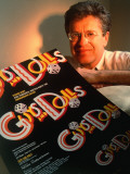 "Director Jerry Zaks with ""Guys and Dolls"" Poster Premium Photographic Print by Ted Thai"