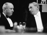 Farley and James M Curley at Boston Democratic Dinner Premium Photographic Print by Arthur Griffin