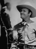 Gene Autry and His Horse Premium Photographic Print by Rex Hardy Jr.