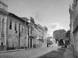 A View Showing a Deserted Street Scene Premium Photographic Print by Hart Preston
