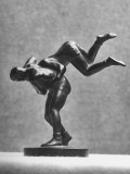 Cecil Howard's Sculpture of Two Men Wrestling Premium Photographic Print by Andreas Feininger
